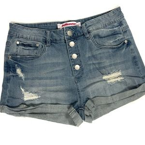 Dollhouse distressed jean shorts